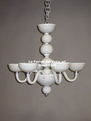 """MODERN ALL SPHERES"" Murano glass chandelier"