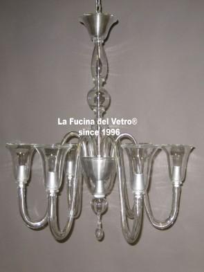 """MODERN ANGELICA"" Murano glass chandelier"