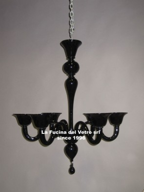 """""""MODERN PASTORAL COLORED SMOOTH""""  Murano glass chandelier"""