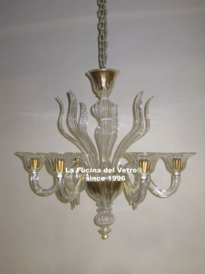 """SPEARS"" Murano glass chandelier"