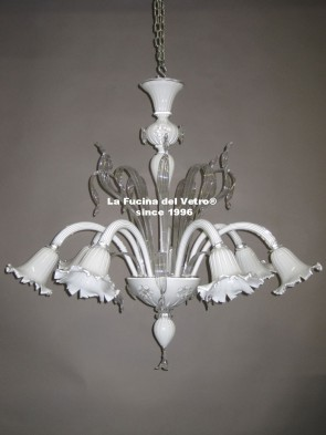 """SETA COLORED"" Murano glass chandelier"