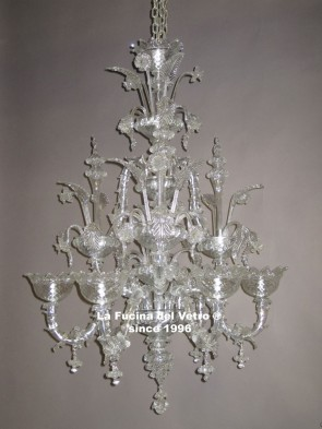 "Murano glass chandelier ""REZZONICO"""