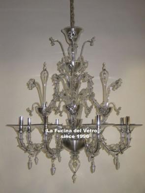 """Murano glass chandelier """"REZZONICO MODERNIZED"""""""