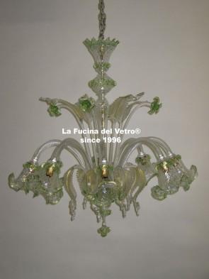 """SPOTLIGHT"" Murano glass chandelier"
