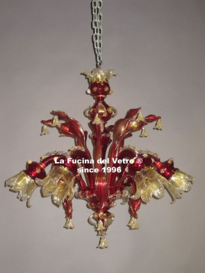 """CENTURY TWISTED"" Classic Murano glass chandelier"