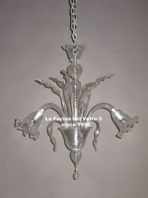 """SILK"" Murano glass chandelier"