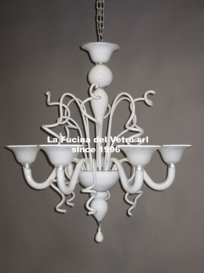 """VARIGOLA COLORED"" modern Murano glass chandelier"