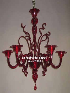 """VARIGOLA COLORED VERS.4"" Murano glass chandelier"