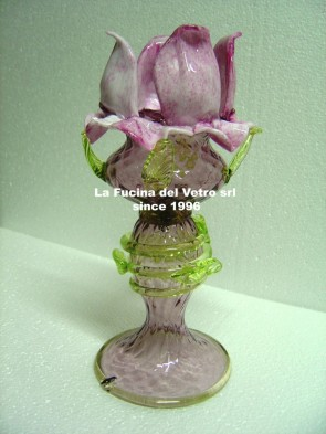 "Murano glass bedside lamp ""ROSE GARDEN"""