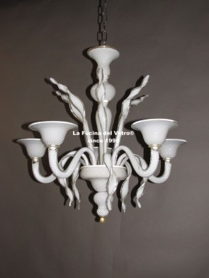 "Murano glass chandelier  ""LUST GOLD"""