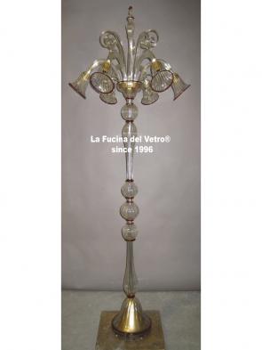 "Murano glass floor lamp ""PASTORAL"""