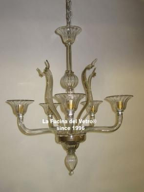 "Murano glass chandelier ""GREED"""