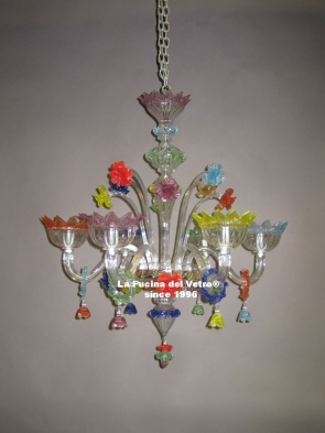 """Murano glass chandelier  """"GLUTTONY"""""""