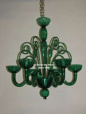 "Murano glass chandelier  ""ENVY"""