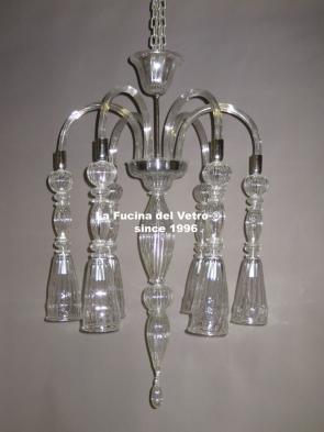 "Murano glass chandelier ""SLOTH"""