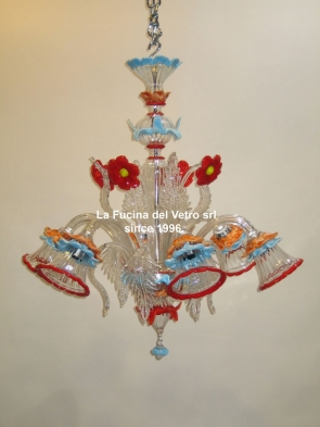 """HIBISCUS"" Murano glass chandelier"