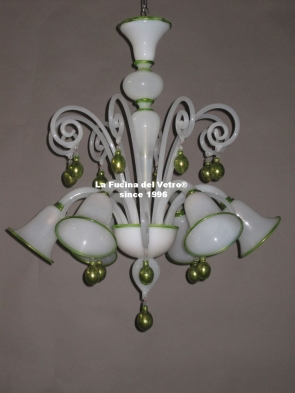 "Murano glass chandelier ""PASTORAL MANU"""