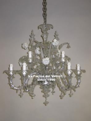 "Murano glass chandelier ""MINIREZZONICO ANTICO"""