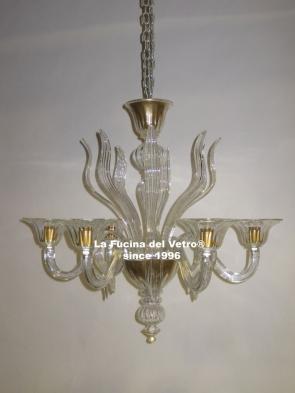 """SPEARS"" Murano glass chandelier"