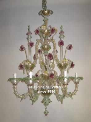 "Murano glass chandelier ""REZZONICO VERS.2"""