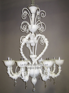 "Murano glass chandelier ""REZZONICO HEART"""