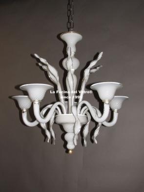 "Murano glass chandelier  ""LUST GOLD"""
