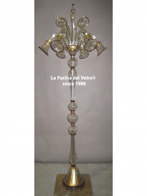 "Murano glass floor lamp ""PASTORAL"""
