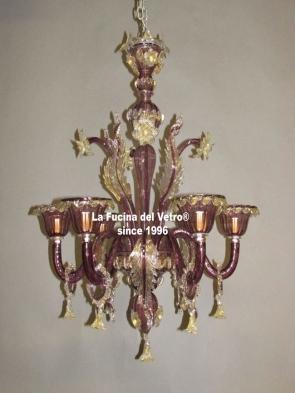 "Murano glass chandelier ""PRIDE"""