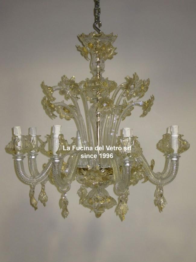 Lampadari Classici In Vetro.Margherite Un Lampadario In Vetro Di Murano Floreale Classico