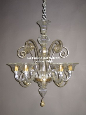 Lampadari Classici In Vetro.Lampadari Classici Pastorali In Vetro Di Murano